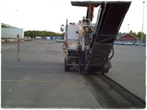 Fräsa asfalt